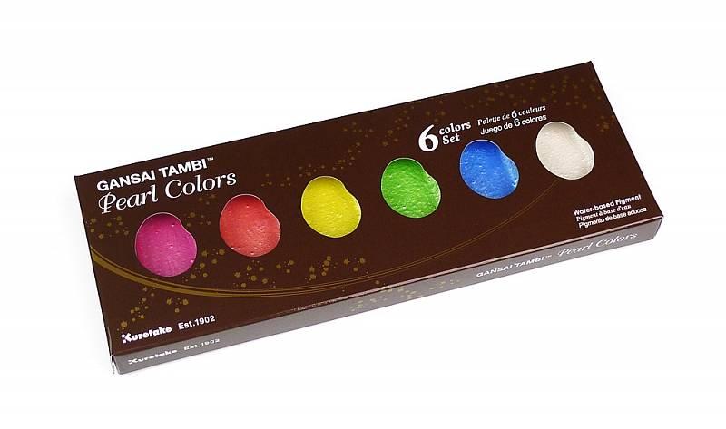 Gansai Tambi Pearl Colors a Starry Colors - sada 6ks: Gansai Tambi - Pearl Colors