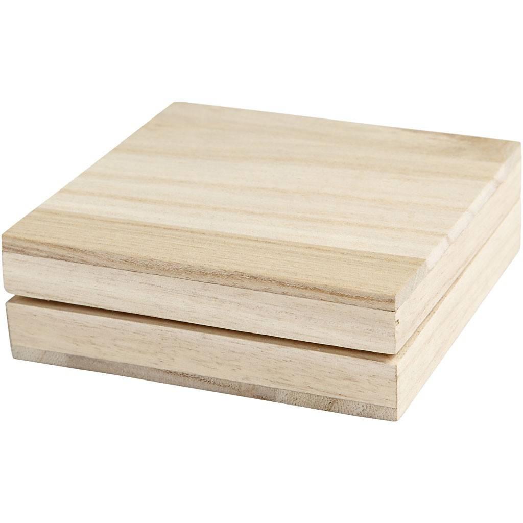 Dřevěná krabička 10x10cm